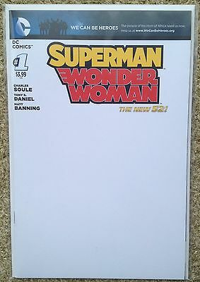 Superman/wonder Woman (2013, Dc New 52) #1 - Blank Variant - Nm