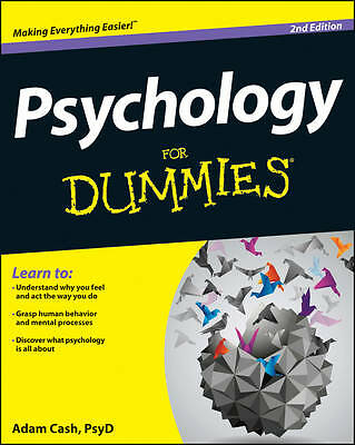 Psychology For Dummies by Adam Cash (Paperback, 2013)