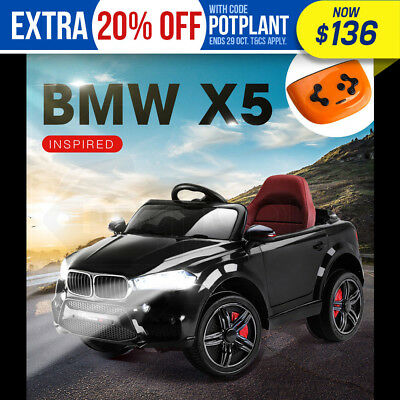 NEW ROVO KIDS Ride-On Car BMW X5 Inspired Electric Toy Battery Remote 12V Black
