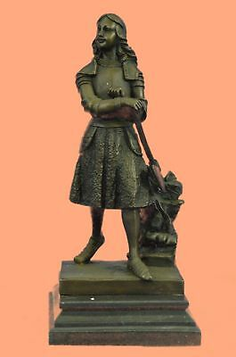 Rare Sculpture Museum Quality Close Out Sale Joan of Arc Masterpiece Gift Bronze