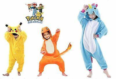 Pokemon Kids Animal Pajama unisex Costume Pikachu Onesie1 Kigurumi &Charmander