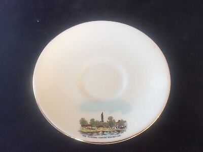 Glasgow Scottish 1938 Empire Exhibition WH GOSS Saucer The Clachan Tower 20