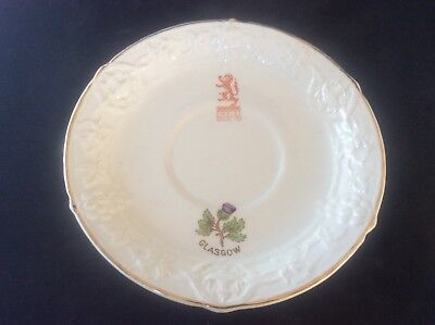 Glasgow Scottish 1938 Empire Exhibition WH GOSS Saucer Glasgow Thistle Fruit 21