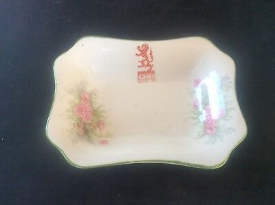 Glasgow Scottish 1938 Empire Exhibition WH GOSS Trinket Dish Bowl Floral 23