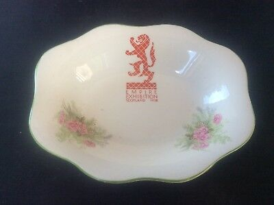Glasgow Scottish 1938 Empire Exhibition WH GOSS Trinket Dish Bowl Floral 25