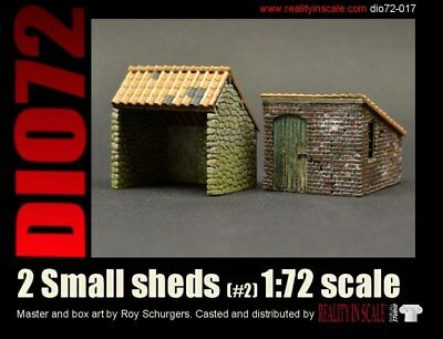 Reality In Scale 1:72 Small Shed #2 - Resin Diorama Accessory #72017