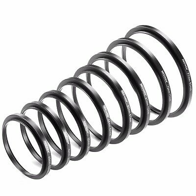 Neewer 8 Pieces Step-up Adapter Ring Set Made of Premium AnodizedAluminum