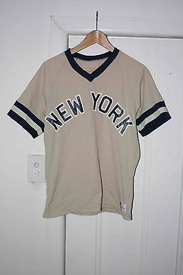 Vintage Sand-Knit Medalist New York Yankees Size M MLB Baseball 1980's