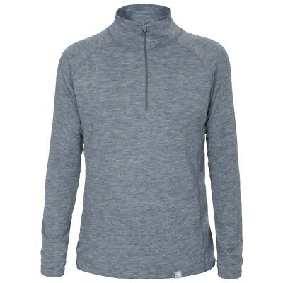 Mens Trespass Seeker Merino Ski Base Layer Thermal Half Zip Top