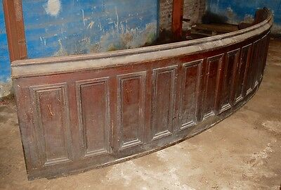 Fabulous Panelled Curved Victorian Bench Seating  Pew Ex Courtroom Rennovation