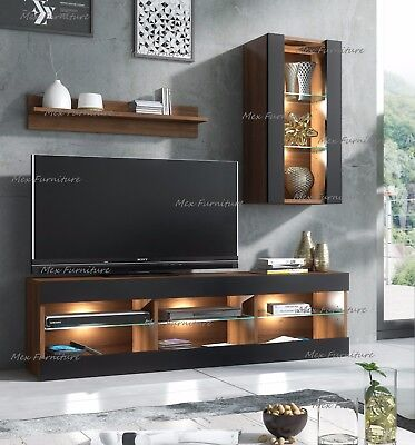 TV Unit Cabinet Stand Lowboard Sideboard Cupboard  Wall set sideboard LED