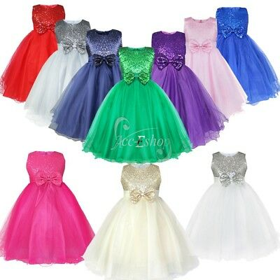 Flower Girl Princess Kid Formal Party Prom Pageant Wedding Bridesmaid Tutu Dress