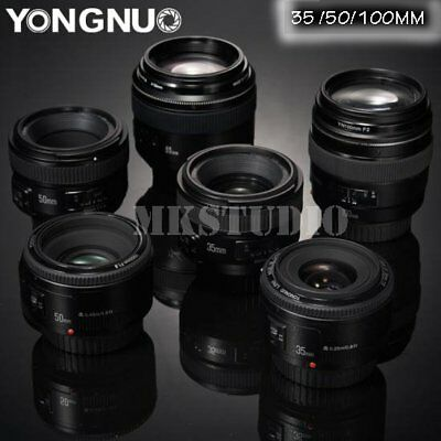 YONGNUO YN 35mm 50mm 100mm EF AF / MF Prime Fixed Lens for Nikon Canon Kamera