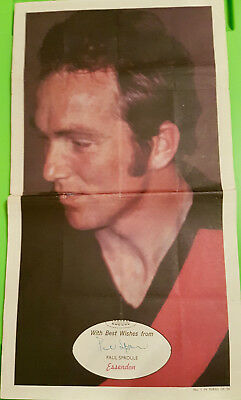 Scanlens VFL poster Paul Sproule rare