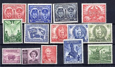 Australia 1945/47 Mint Collection of 14 MH X7830