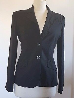 Black CUE Corporate Suit Jacket in Size 10