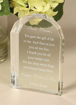 Personalized Laser Engraved Crystal Dome - Wedding, Anniversary, Appreciation