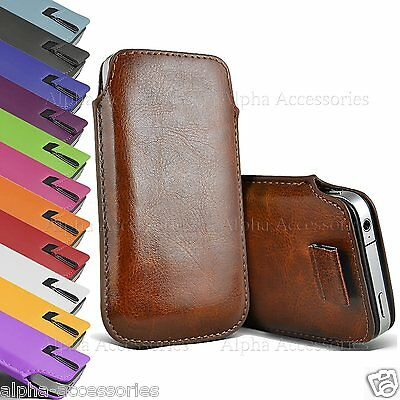 Premium Leather Pull Tab Pouch Case Cover Holster Bag For Apple iPhone 8 Plus