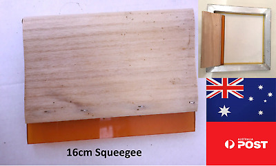Screen Printing Squeegee 16cm high quality polyurethane blade Made In Australia