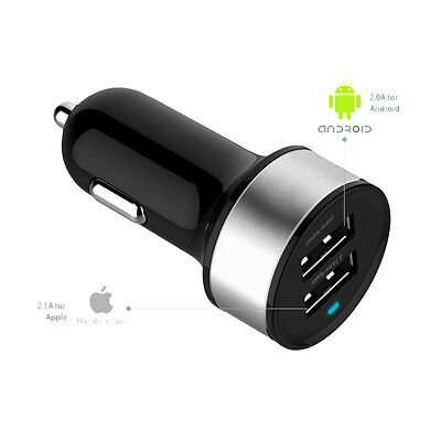 USB Car Charger 12V Quick Charge Adapter Dual-usb Ports for Cigarette Lighter