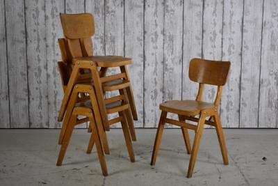 Vintage Industrial Wooden 'Ben' Cafe Bar Kitchen Dining Chairs (110 Available)