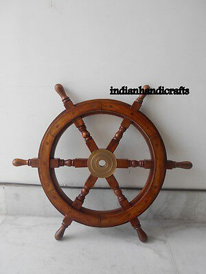 Tugboat Steering Shipwheel Nautical Decor Collectibles_24 Inch Shipswheel Gift