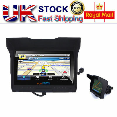 "5.0"" Waterproof Motorcycle Motobike GPS Navigation SAT NAV 8GB 256M EU Maps UK"