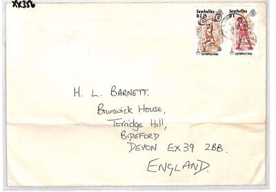XX356 1970s SEYCHELLES Commercial Airmail Cover