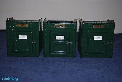 3 Lionel Corp. MTH Tinplate 11-90050 No. 205 Std. Gauge Merchandise Containers *