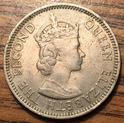1959 East Caribbean States 25 Cents Queen Elizabeth II Coin