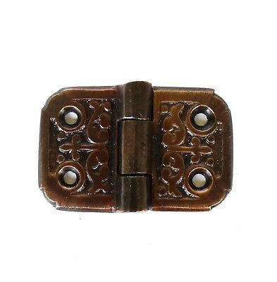 Victorian Flush Mount Aged Bronze Finish Small Flap Hinge Cabinet Hardware 2″ L