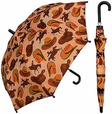 "32"" Children Kid Cowboy Hats Umbrella - RainStoppers Rain/Sun UV"
