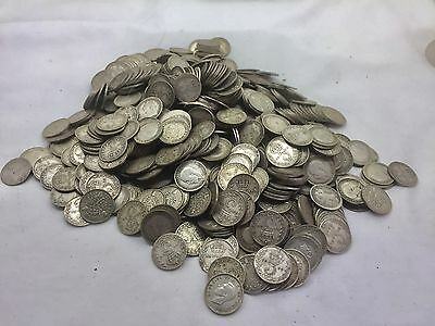 Bank Hoard  Find. Silver Antique / Vintage 3p Coins For Sale Single Or Multiple