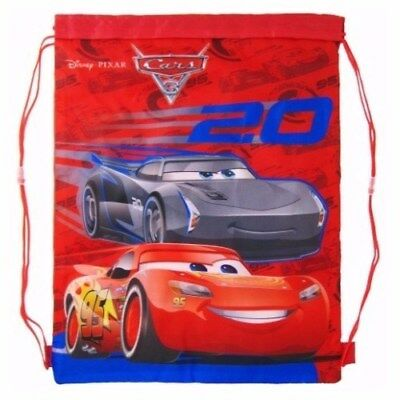 Disney Pixar Cars 3 Gym Bag Swim Pe School Boys String Gift Lightning Mcqueen