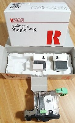 RICOH PPC Refill STAPLES Type K  - 2 staple refills and Staple Cartridge 410802