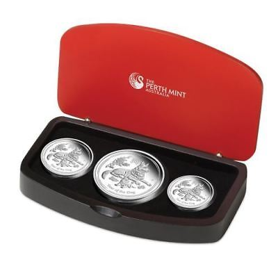 YEAR OF THE DOG Australian Lunar Series II Three Coin Set 2018 2 oz ,1 oz,1/2 oz