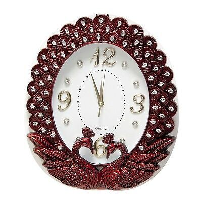 Wall clock with Swans Design in Red
