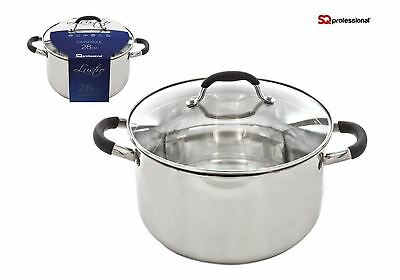 Strain & Pour Stockpot, Stainless Steel, Induction, 10L - 28cm