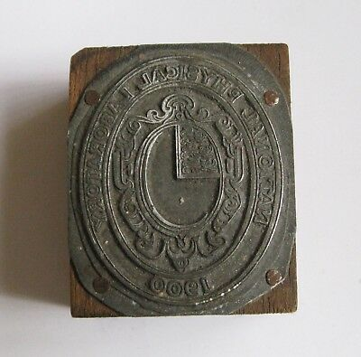 Antique / Vintage Letterpress Printing Block National Physical Laboratory 1900