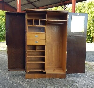 Vintage oak London made capacitos Gentleman's fitted  Compactom wardrobe