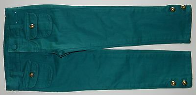 NWOT GYMBOREE girls GLAMOROUS FRIENDS Teal Denim Skinny Jeans Pants* 4  NEW