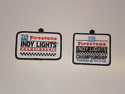2 Firestone Tire Indy Lights Patches NOS