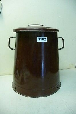 1382. Alter Emaille Email Topf Old enamel pot