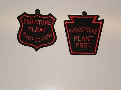2 Firestone Tire Plant Protection Patches NOS