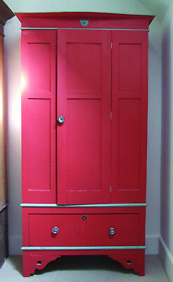 Old painted wardrobe