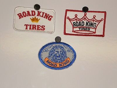 3 Road King Tires Patches NOS
