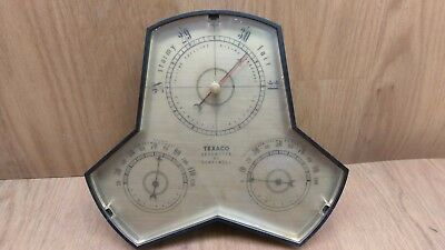 Texaco Oil & Gas Give-Away Barometer made by Honeywell Vintage Advertising Promo