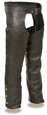 Milwaukee Leather Mens Fully Lined Classic Chaps Black