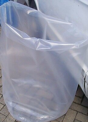 5 x 55 Gallon Heavy Duty 10 Mil 36 x 40 Clear Plastic Drum Liners Free Ship US48