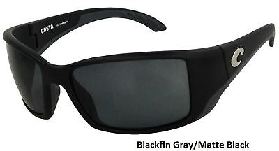 5d77bd821 Costa Del Mar Blackfin Polarized Black Frame Sunglasses 100% UV Protection